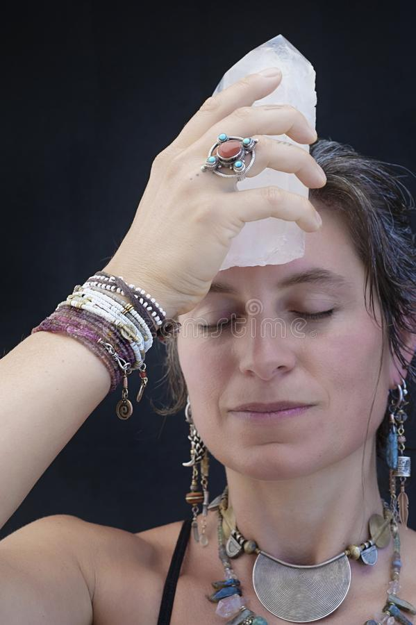 Sacred Crystal Third Eye Chakra royalty free stock photo