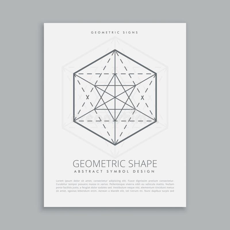 Sacred geometrical symbol. Vector illustration vector illustration