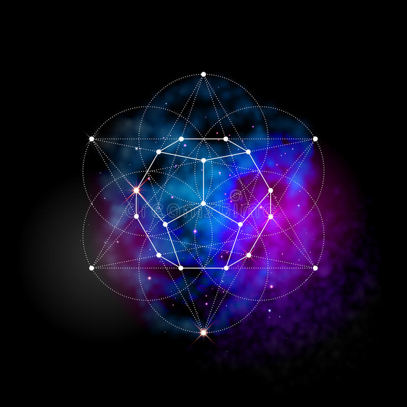 Sacred geometry. Flower of life pattern symbol royalty free illustration
