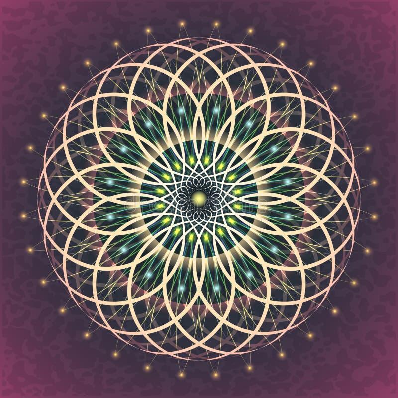 Sacred Geometry Flower of Life stock illustration