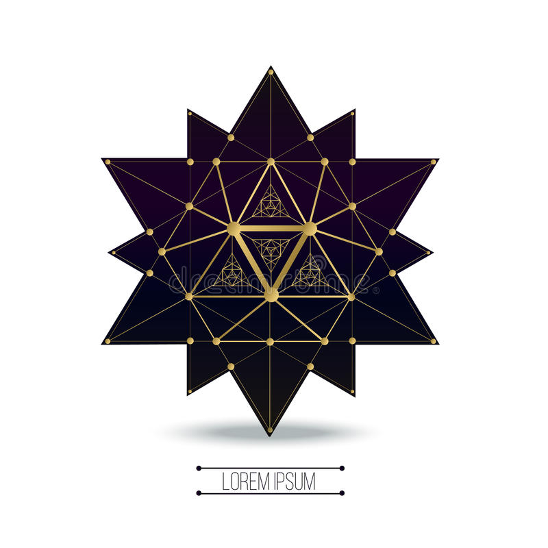 Sacred geometry forms stock illustration