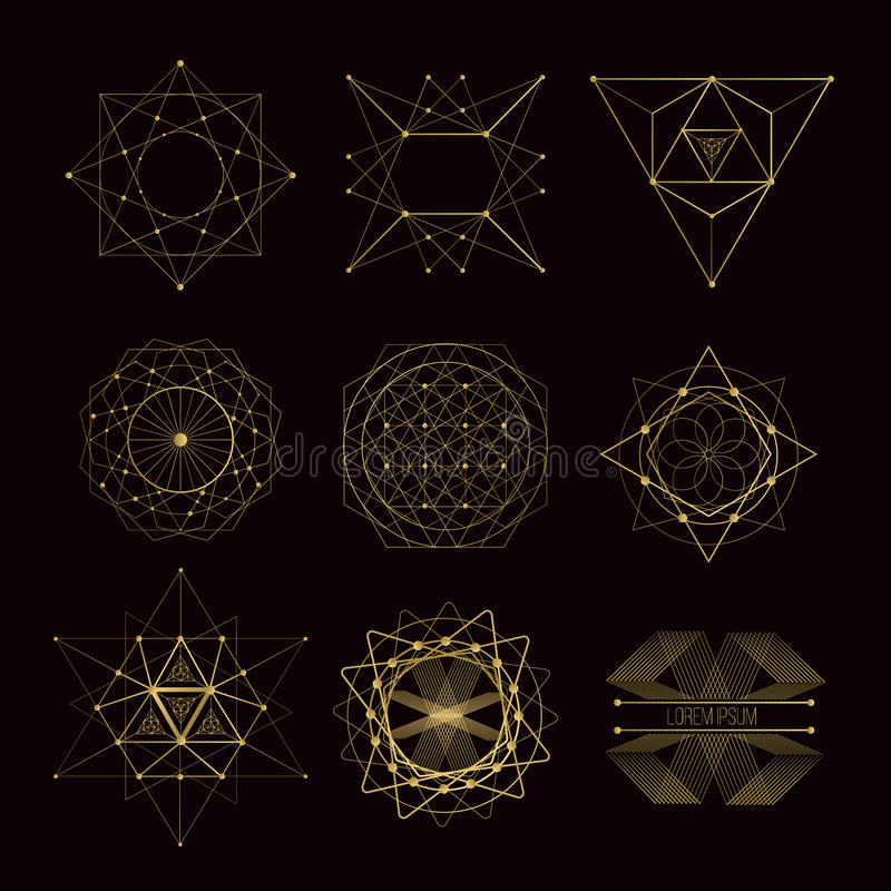 Sacred geometry forms vector illustration