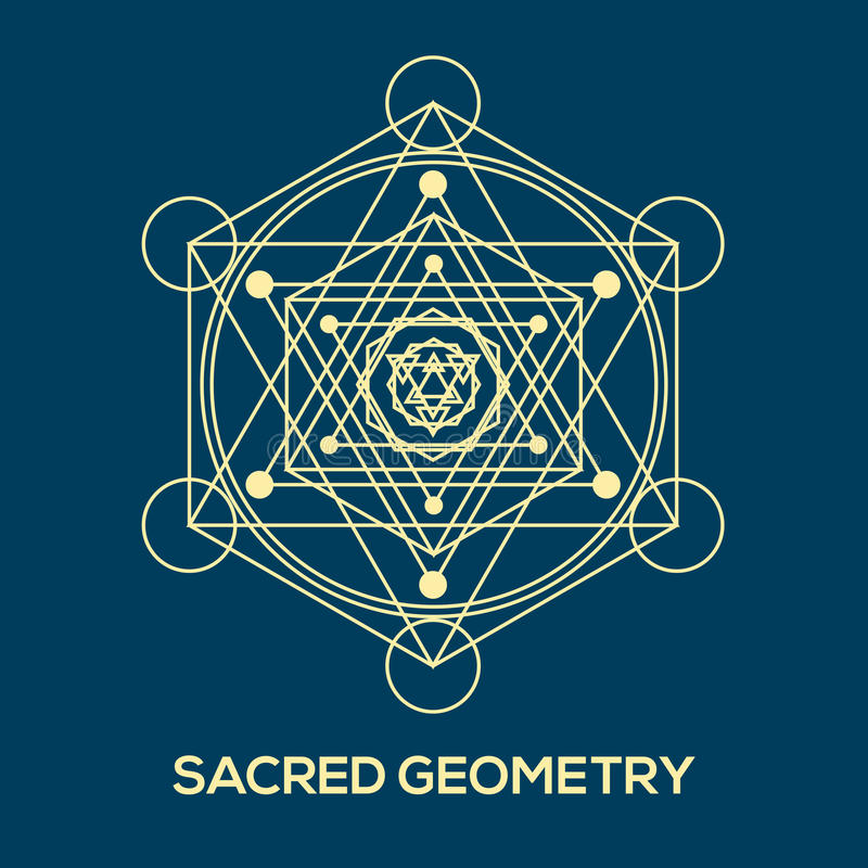 Sacred geometry. Hipster symbols and elements royalty free illustration