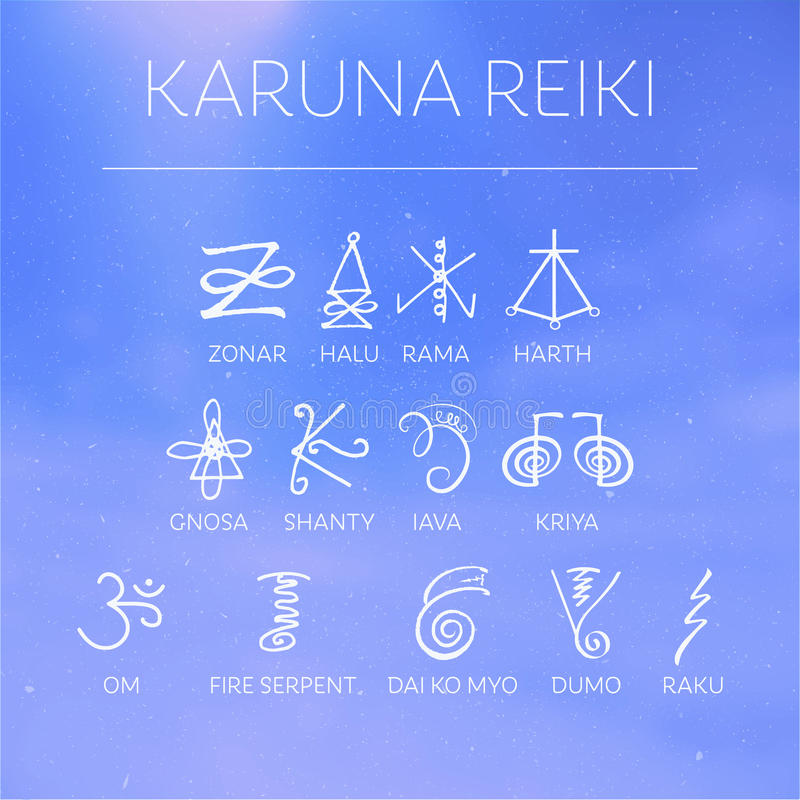 Sacred geometry. Reiki symbol. royalty free illustration