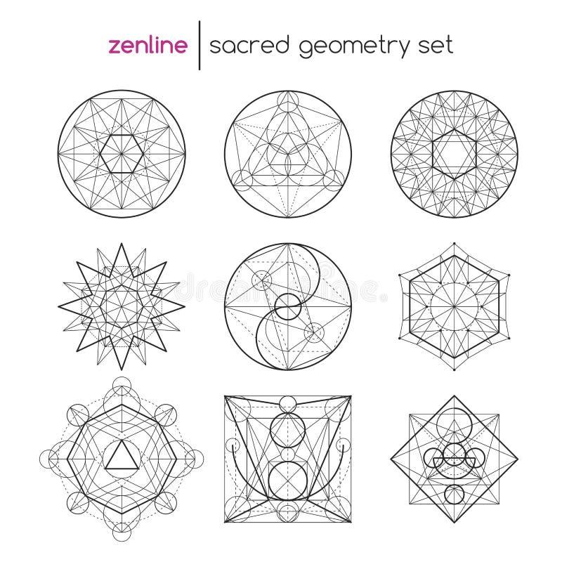 Sacred geometry set stock illustration
