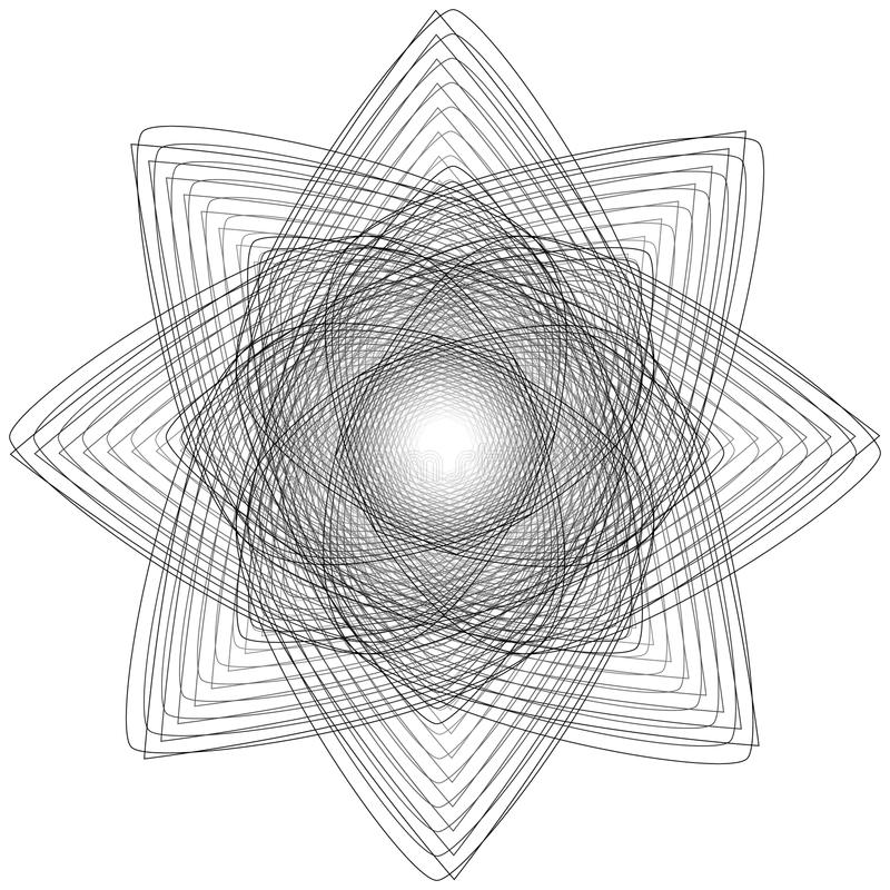 Sacred geometry signs. Set of symbols and elements. Alchemy, religion, philosophy stock photo