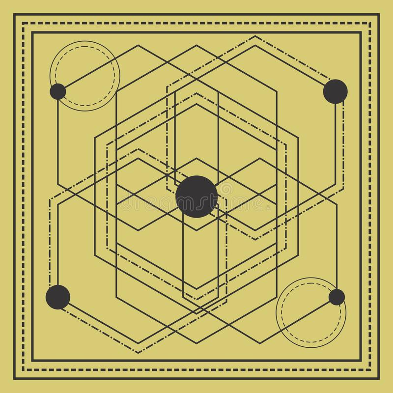 sacred geometry square design royalty free stock photo