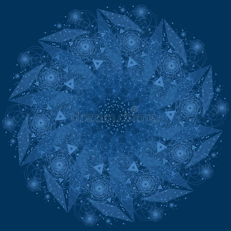 Sacred geometry symbol. Mandala mystery element royalty free stock photos