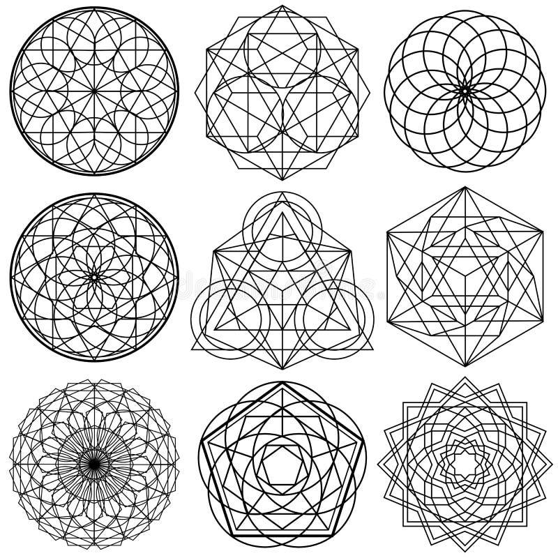 Free Sacred Geometry Symbols Vector - Set 02 Royalty Free Stock Image - 85325016