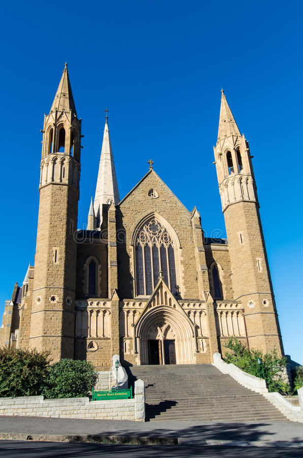 Sacred Heart Cathedral in Bendigo, Australia royalty free stock photo