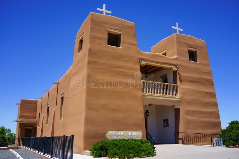 Sacred Heart Catholic Church Nambe Pueblo royalty free stock image
