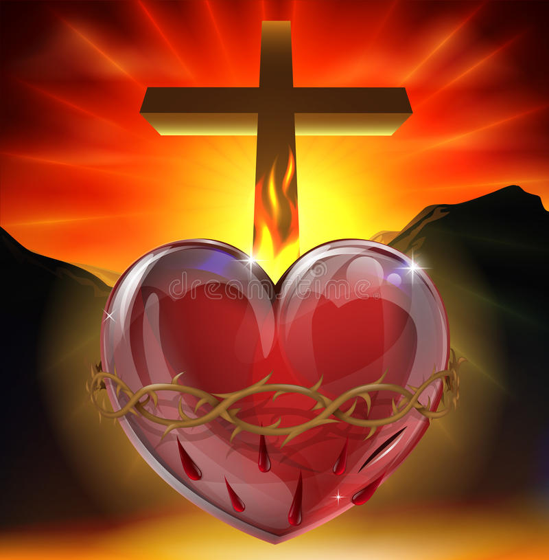 Download The Sacred Heart Illustration Stock Photos - Image: 25300043