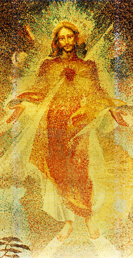 Download Sacred Heart of Jesus stock photo. Image of christian - 25294298