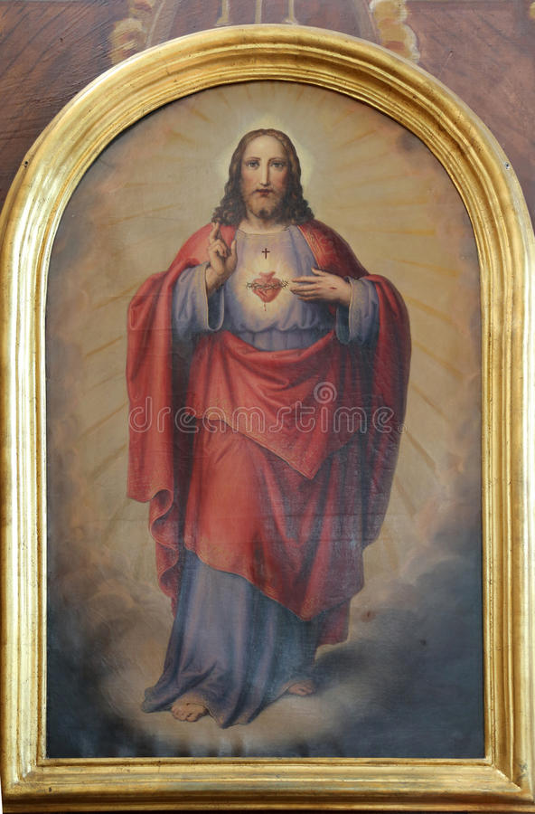 Sacred Heart of Jesus royalty free stock image