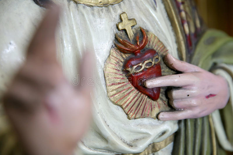 Sacred Heart of Jesus Christ stock image