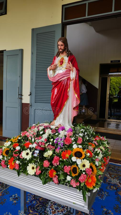 The Sacred Heart of Jesus, Divine Mercy stock photography