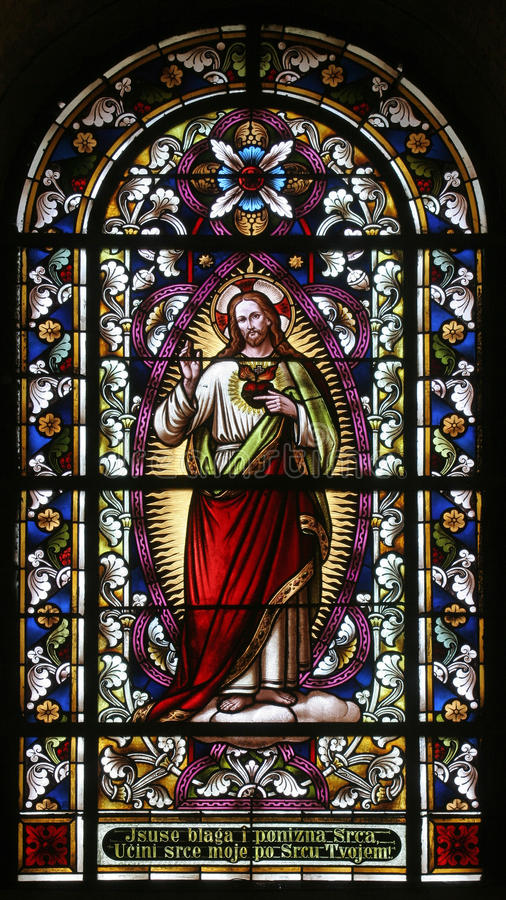 Sacred Heart of Jesus royalty free stock photography