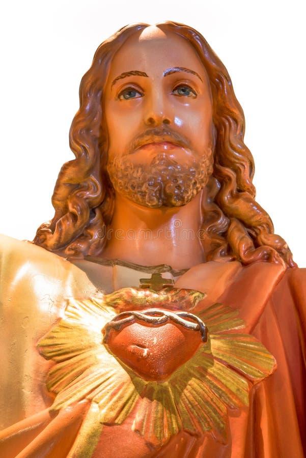 Sacred heart of Jesus statue stock photo