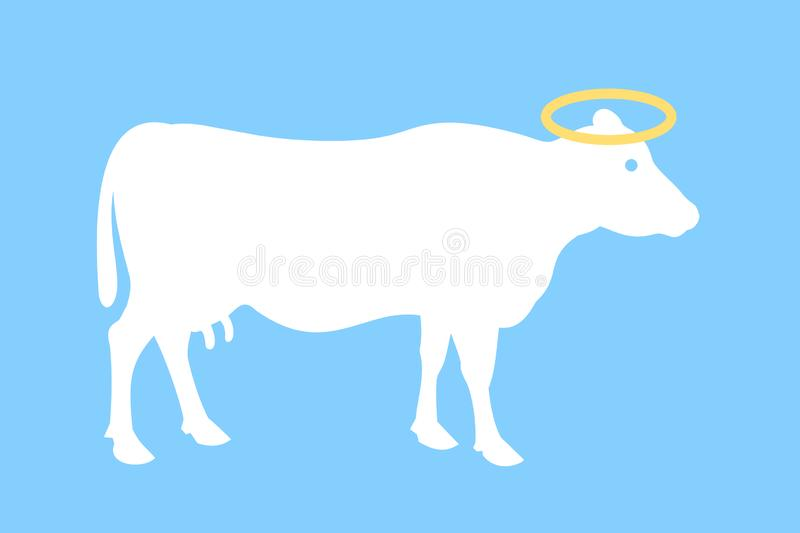 Sacred and holy cow stock photo