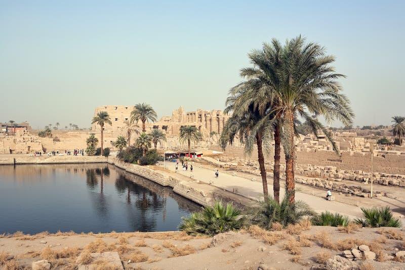 Download Sacred lake in Karnak stock image. Image of pillar, scenic - 16916105