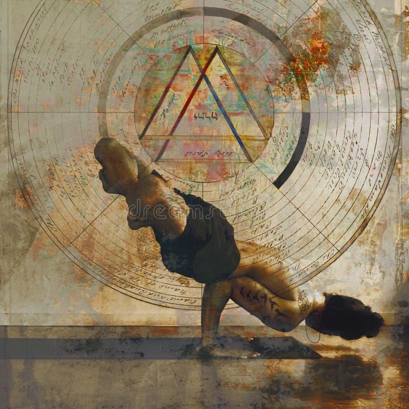 Sacred Man Yoga Mandala royalty free stock photos