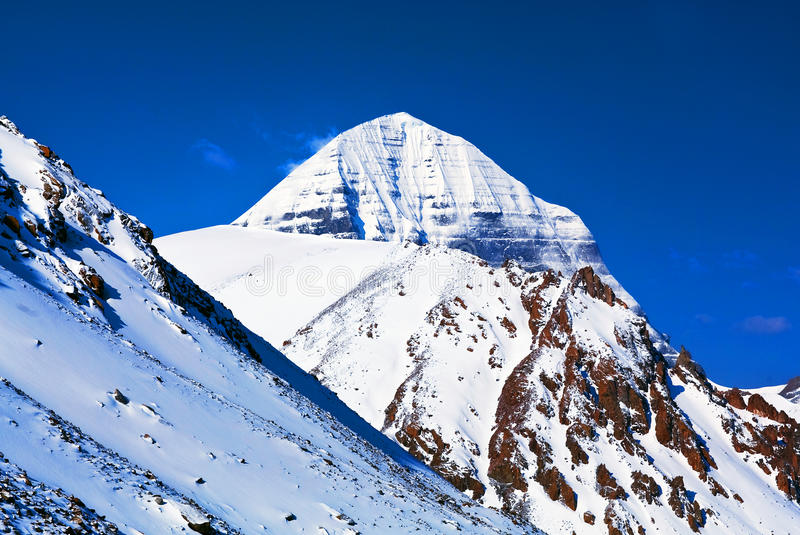 Sacred mount Kailash in Tibet. Holy mount Kailash (elevation 6638 m), which are part of the Transhimalaya in Tibet. It is considered a sacred place in four stock photos