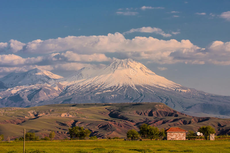 Sacred Mountain Ararat in spring royalty free stock photography