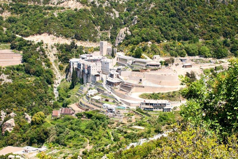 Sacred Paul's monastery, Athos stock images