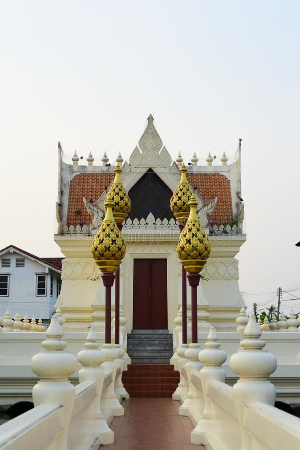 Sacred places for the people to worship. At Phanat Nikhom, Chonburi, Thailand royalty free stock photography