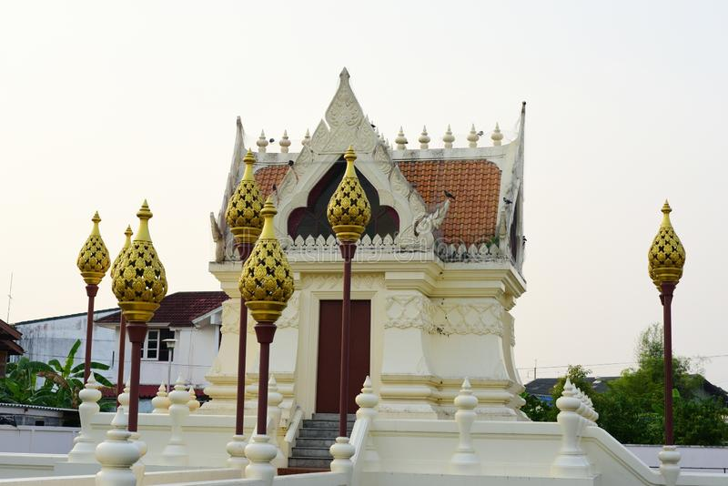 Sacred places for the people to worship. At Phanat Nikhom, Chonburi, Thailand royalty free stock photo