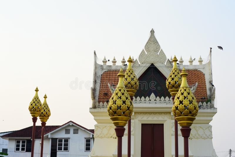 Sacred places for the people to worship. At Phanat Nikhom, Chonburi, Thailand stock images