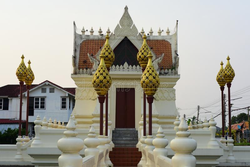 Sacred places for the people to worship. At Phanat Nikhom, Chonburi, Thailand stock photography
