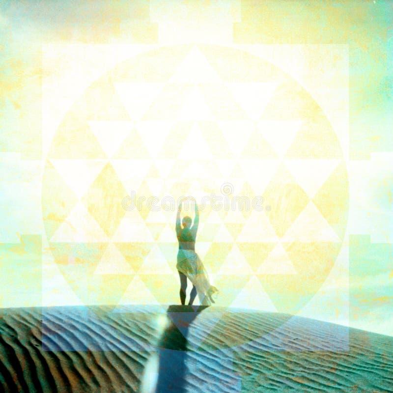 Sacred Sky Mandala Woman stock image