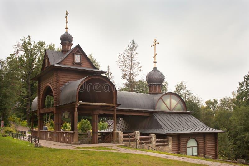 Sacred spring and bath-house at Savvino-Storozhevsky monastery. stock photo
