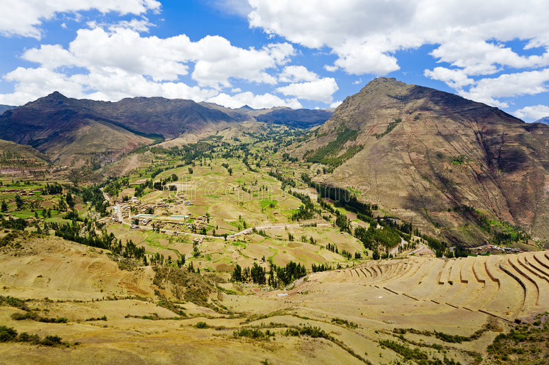 Download Sacred Valley stock photo. Image of peru, slope, pisac - 7550466