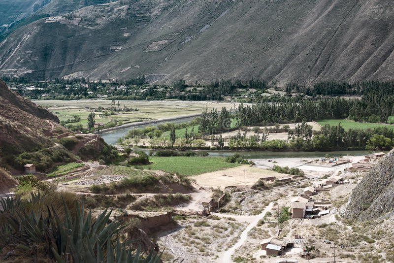 Sacred Valley of the Incas located in the present-day Peruvian region of Cusco, Peru stock images