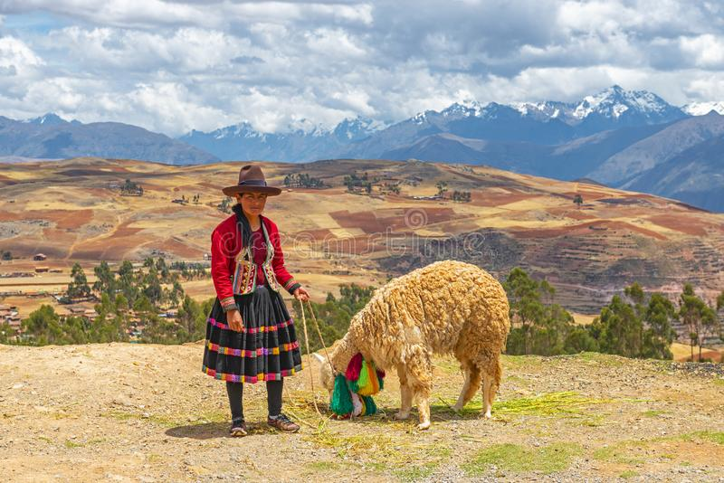 Sacred Valley People, Cusco, Peru royalty free stock images