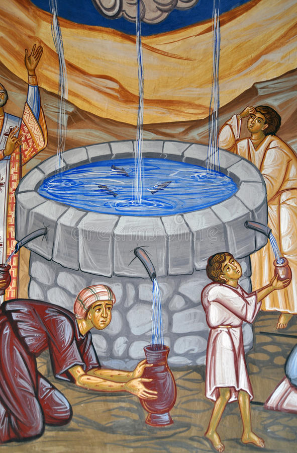 Sacred water painting royalty free stock images