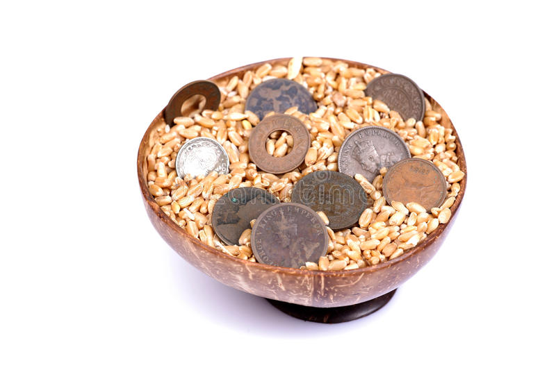 Download Sacred wheat and money stock image. Image of wheat, ancient - 18446209