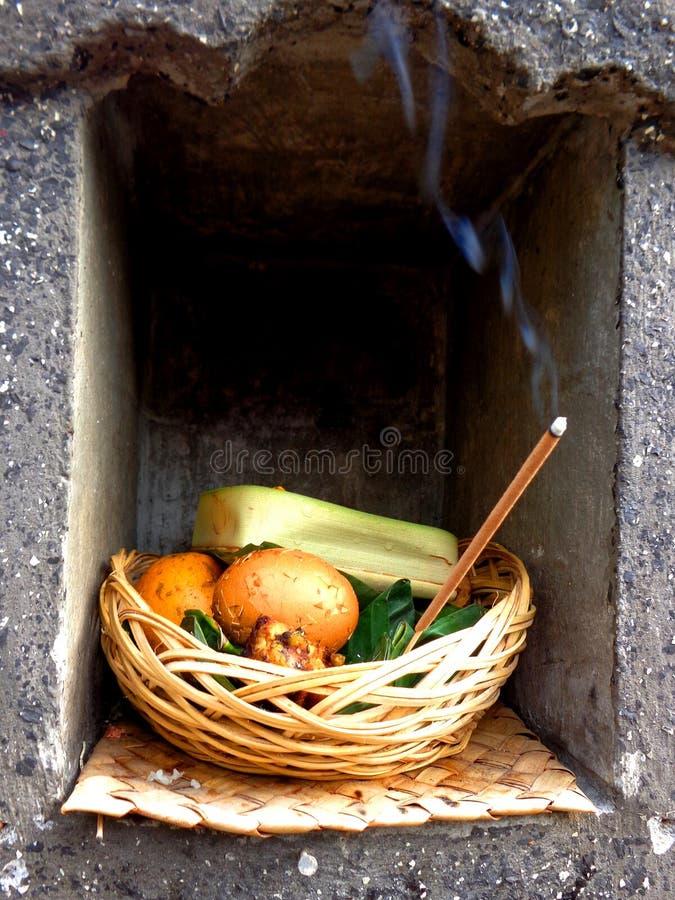 Sacrifices. Hindu sacrifices on Bali, Indonesia royalty free stock photos