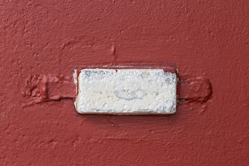 Sacrificial anode anti corrosion on hull stock photo