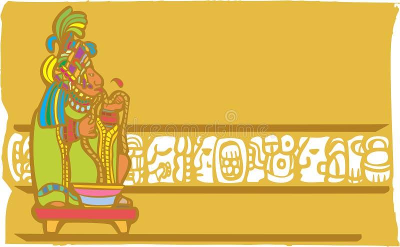 Sacrificio Mayan di salasso illustrazione vettoriale