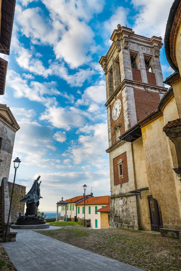Sacro Monte του Βαρέζε Σάντα Μαρία del Monte, μεσαιωνικό χωριό, Ιταλία στοκ εικόνα με δικαίωμα ελεύθερης χρήσης