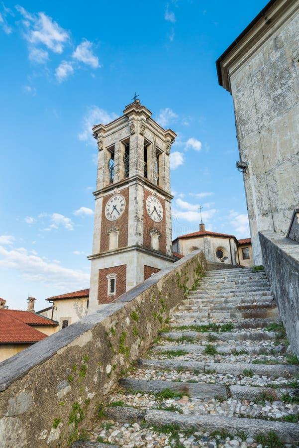 Sacro Monte di Varese - Santa Maria del Monte, villaggio medievale, Italia Sito dell'Unesco fotografie stock libere da diritti