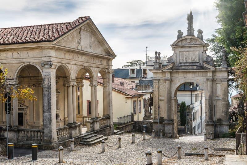 Sacro Monte Варезе - Santa Maria del Monte, Италии Место ЮНЕСКО стоковые изображения rf