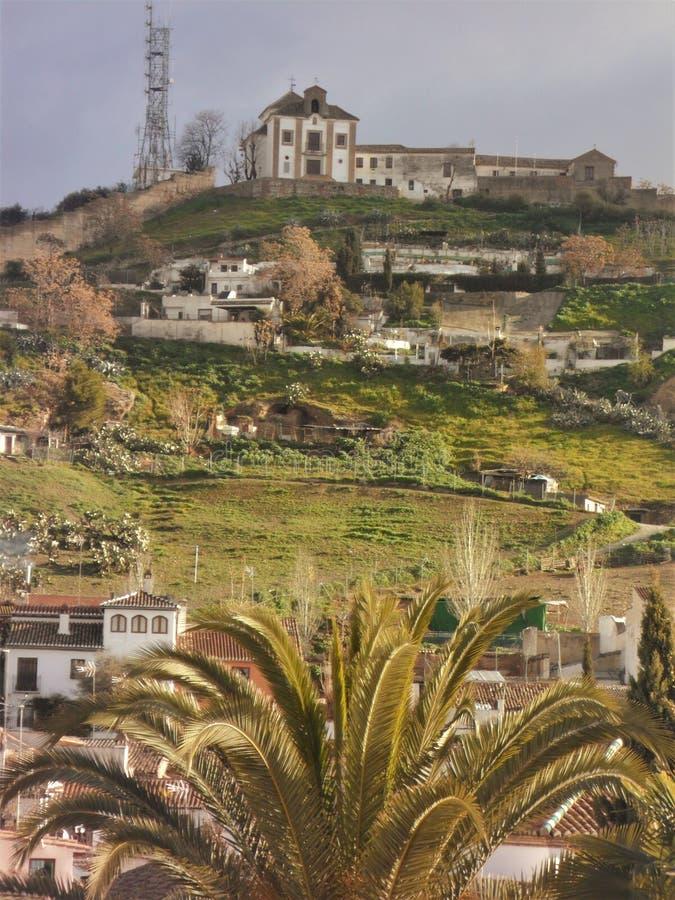 Sacromonte e Albayzin - la Granada-Spagna fotografie stock