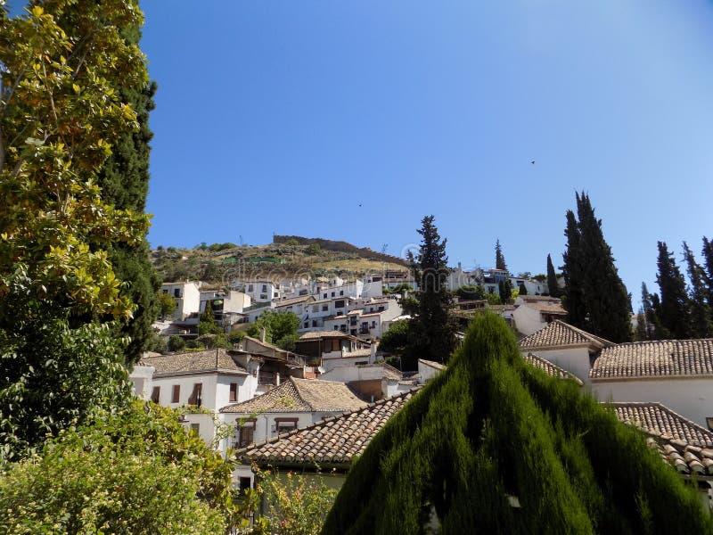 Sacromonte van albayzin-Granada - Andalusia stock fotografie