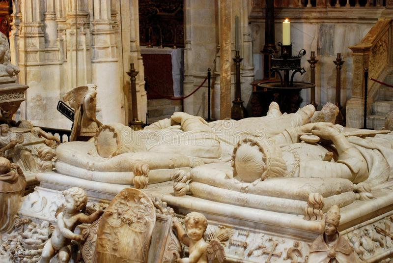 Sacrophagus του Ferdinand και της Isabella στοκ εικόνα