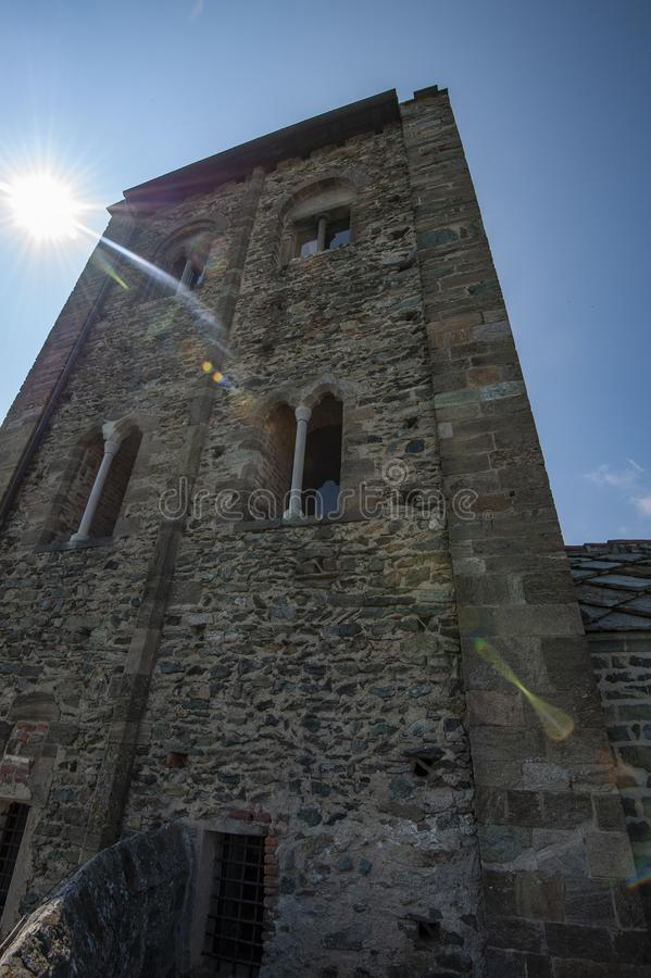 Sacros italianos do monast?rio de St Michel Pedmont foto de stock