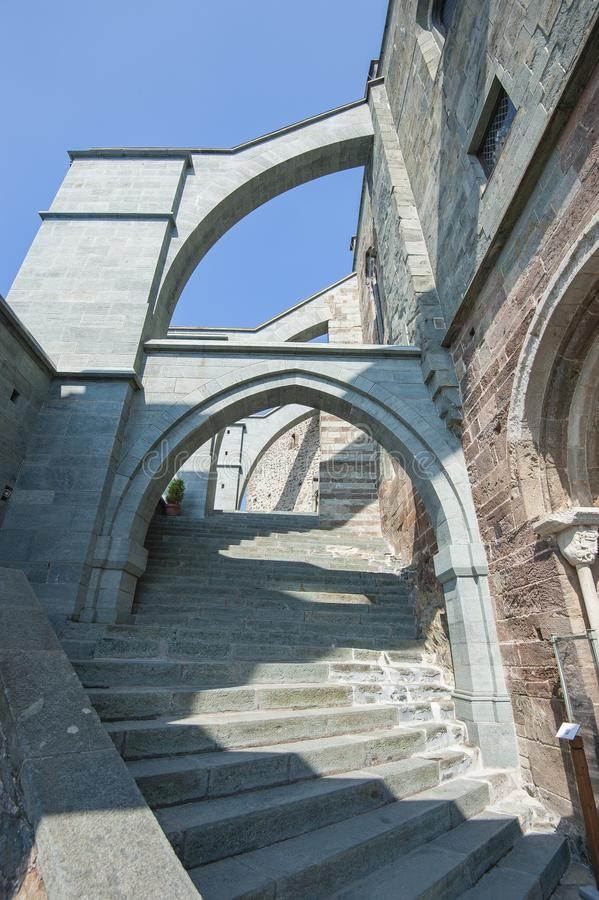 Sacros italianos do monast?rio de St Michel Pedmont fotos de stock royalty free